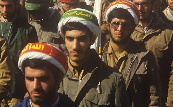 Iran clergymen march in Tehran